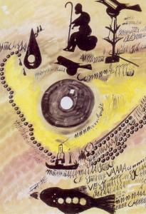 Tempera su carta 50 X 70 ( 04 settembre 1965 ) n. 345/b del catalogo generale Carlo Zinelli