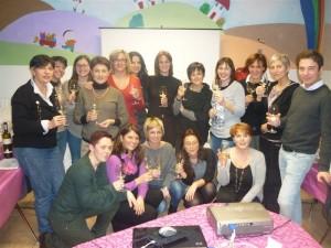 Foto di gruppo per le donne del vino