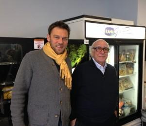 L'imprenditore Giovanni Rana e il sindaco di San Giovanni Lupatoto a New York