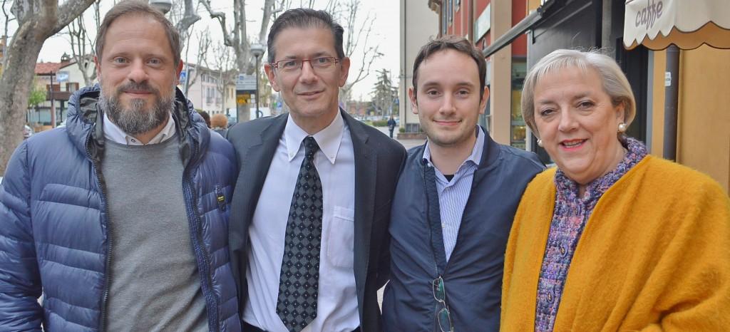 Michele Trettene, Attilio Gastaldello, Fulvio Sartori, Maria Luisa Meroni