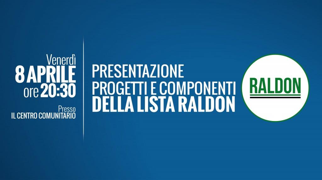 evento - RALDON presentazione lista