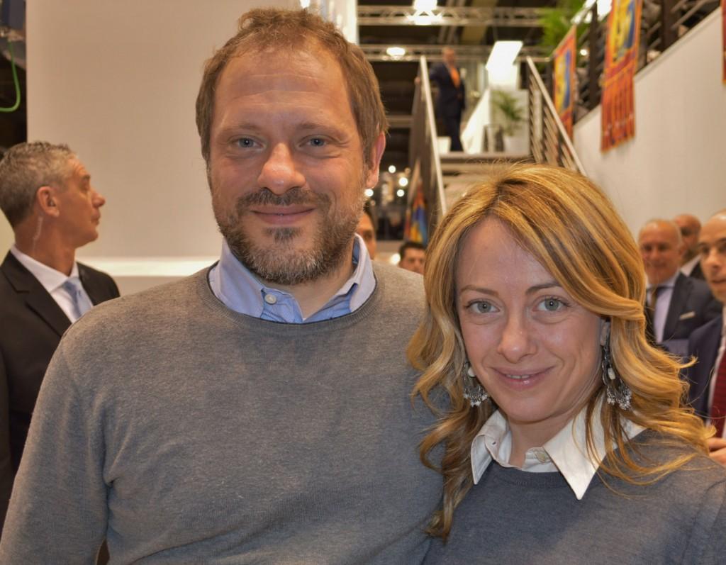 Michele Trettene e Giorgia Meloni