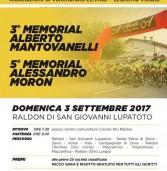 Memorial Mantovanelli/Moron il 3 settembre
