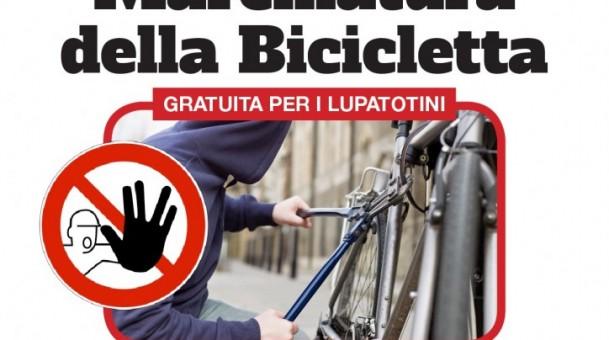 Sabato 29 settembre marchiatura biciclette